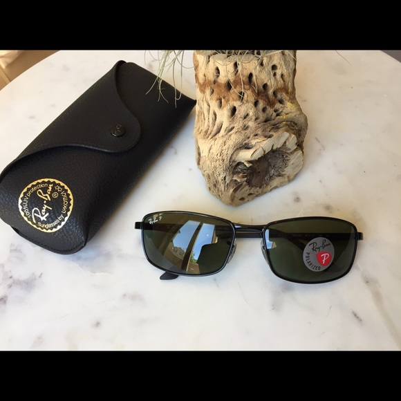 87bc4aafc7a46 Ray-Ban RB3498 Black Polarized Men Sunglasses